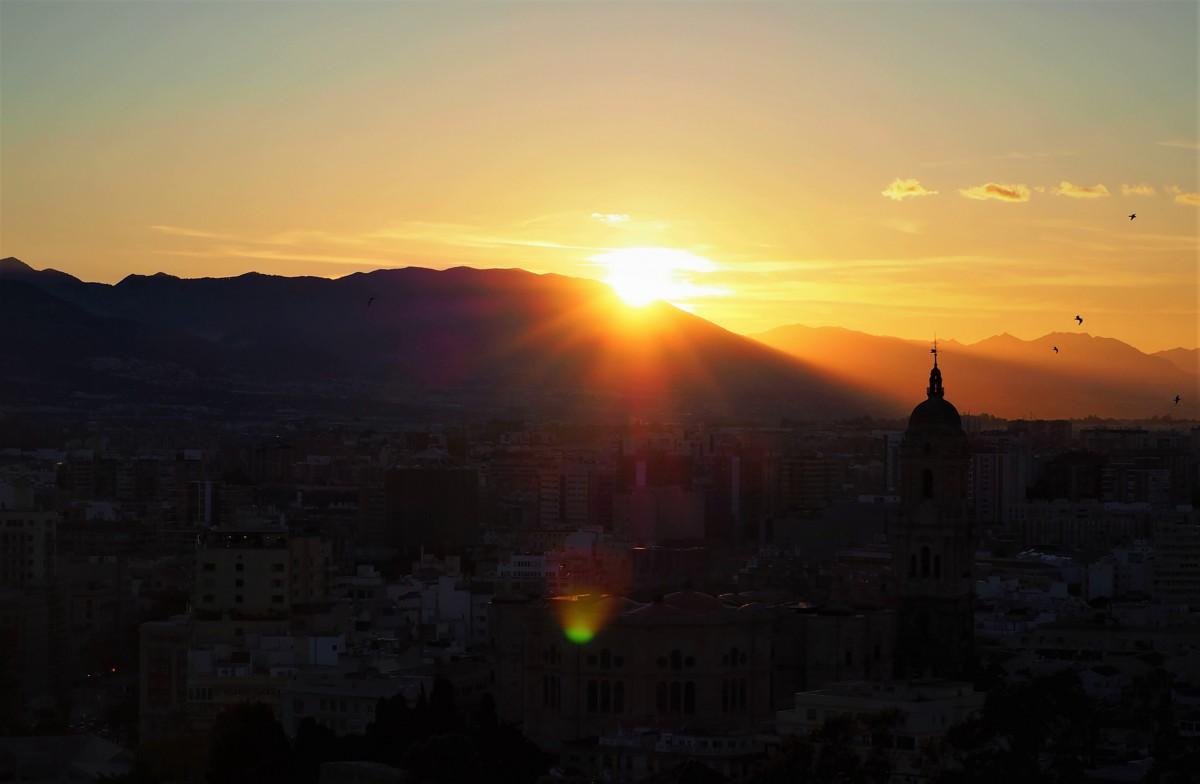 Zdjęcia: Malaga, Malaga - zachód Słońca, HISZPANIA