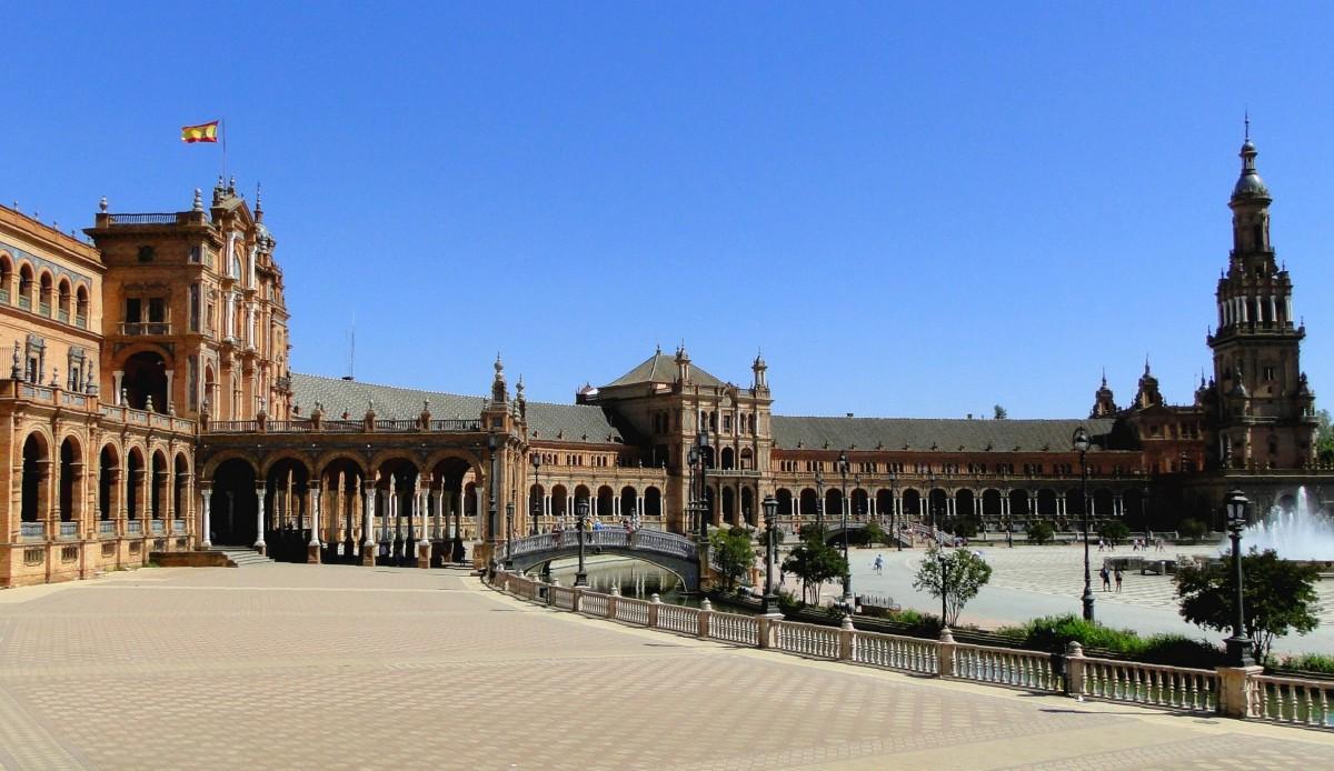 Zdjęcia: Sewilla, Andaluzja, Na Placu Hiszpańskim, HISZPANIA