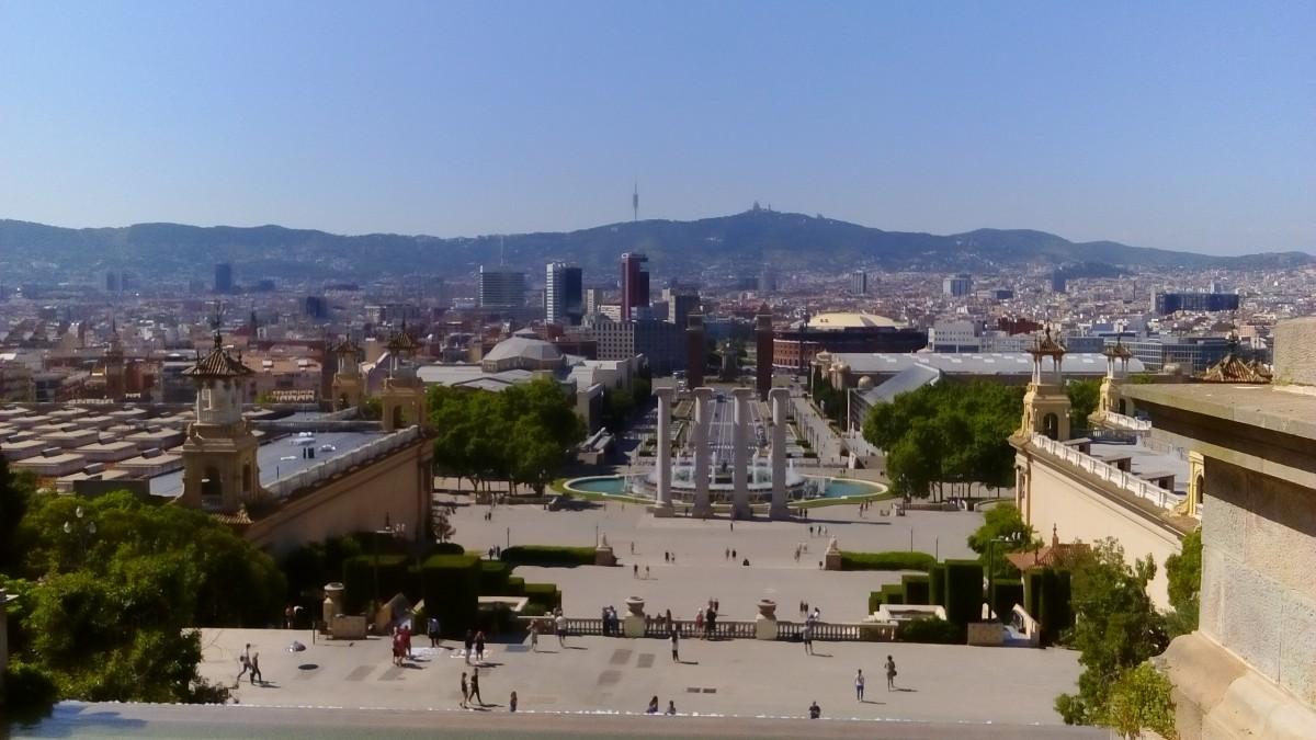 Zdjęcia: Barcelona, Katalonia, Barcelona - panorama spod Pałacu Narodowego, HISZPANIA