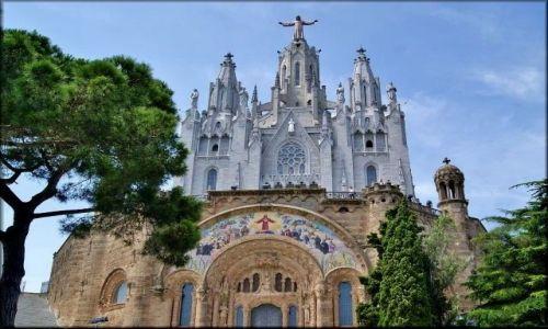 HISZPANIA / Katalonia / Barcelona - wzgórze Tibidabo -Temple Expiatori del Sagrat Cor   / Temple Tibidabo