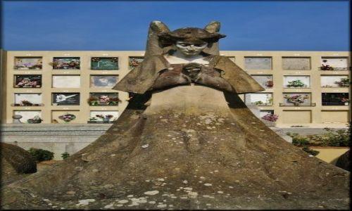 HISZPANIA / Costa Brava / Lloret de Mar - cmentarz  / Anioł