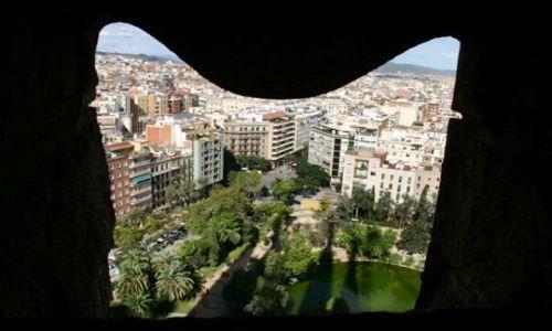 Zdjecie HISZPANIA / Catalonia / Barcelona/Sagrada Familia / widok z wieży