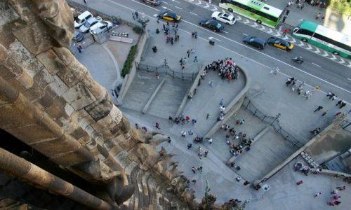 Zdjęcie HISZPANIA / Catalonia / Barcelona/Sagrada Familia / widok z wieży