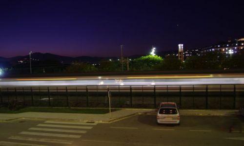 Zdjecie HISZPANIA / Santa Susana / Santa Susana / jedzie pociąg z daleka
