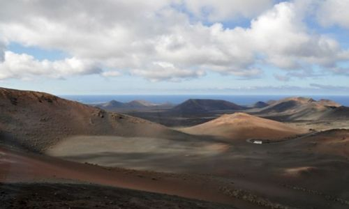Zdjecie HISZPANIA / Wyspy Kanaryjskie / Park Timanfaya panorama / Lanzarote