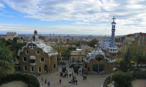 Zdjecie HISZPANIA / Barcelona / Park Guell / Widok na miasto z Parku Guell