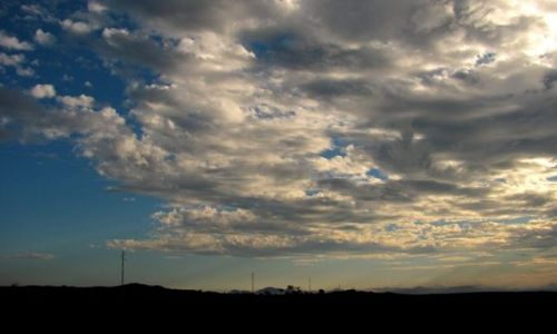 Zdjecie HISZPANIA / Asturias / El cabo Peñas / niebo...