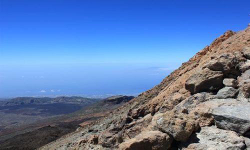 Zdjecie HISZPANIA / Teneryfa / Wulan El Teide 3718 m n.p.m  / Widok z El Teide na La Gomerę