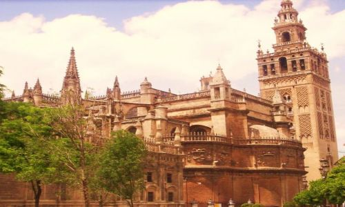 Zdjecie HISZPANIA / -Andaluzja / Sewilla / Katedra i giralda w Sewilli