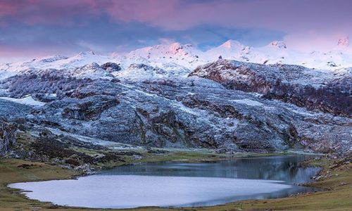 Zdjecie HISZPANIA / Asturias / Covadonga / Lake Ercina, Picos de Europa