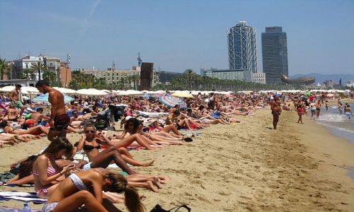 HISZPANIA / Katalonia / Barcelona / plaża w Barcelonie