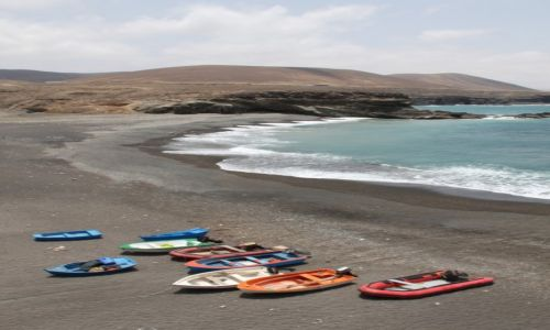 Zdjecie HISZPANIA / Fuerteventura / Ajuy / Łódki