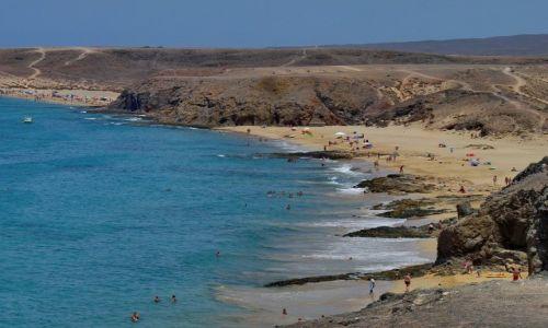 HISZPANIA / Lanzarote / Papagayo / Plaża Papagayo