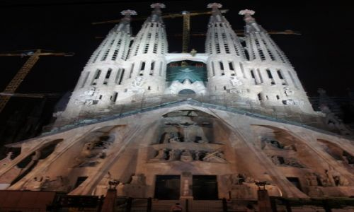 HISZPANIA / Katalonia / Barcelona / Sagrada Familia - Fasada zachodnia.