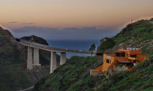 Zdjęcie HISZPANIA / Gran Canaria / Gran Canaria / Wiadukt i zachód