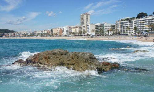 Zdjecie HISZPANIA / Katalonia Costa Brava / Lloret de Mar / Lloret de Mar, z plaży