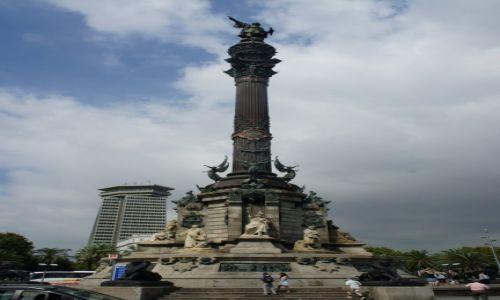 HISZPANIA / Katalonia / Barcelona, Placa Portal de la Pau / Pomnik Kolumba w Barcelonie