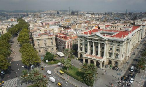 HISZPANIA / Katalonia / Barcelona, Placa Portal de la Pau / Widok z pomnika Kolumba