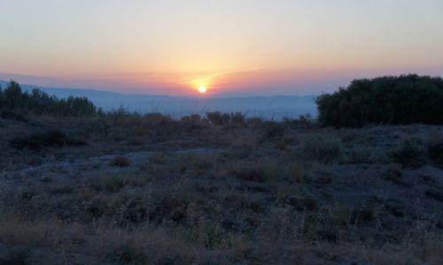 HISZPANIA / Nawarra / Camino de Santiago / Wschód słońca na Camino