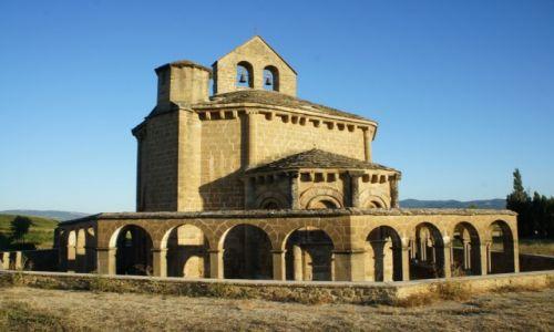 Zdjęcie HISZPANIA / Nawarra  / w pobliżu Muruzabal /  Iglesia de Santa Maria de Eunate