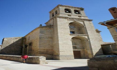 Zdjęcie HISZPANIA / Castilla y Leon / Hontanas / Kościół de la Inmaculada z XIV w.