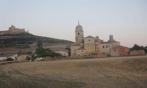 Zdjęcie HISZPANIA / Castilla y Leon / Castrojeriz / Castrojeriz, Colegiata de Santa María del Manzano z 1214 r