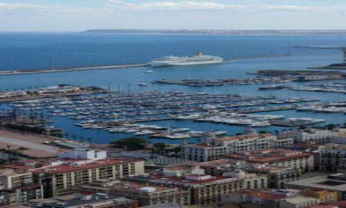 HISZPANIA / Alicante / Zamek św. Barbary - Castillo de Santa Bárbara  / Port w Alicante