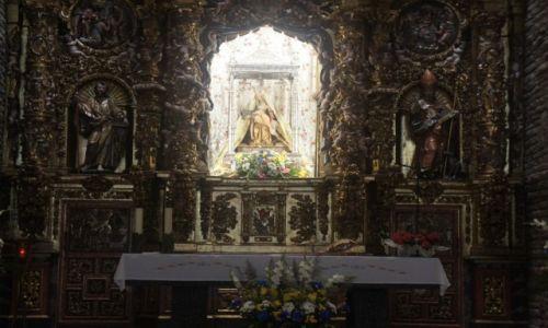 Zdjęcie HISZPANIA / Leon / Valverde de la Virgen / Virgen de la Piedad, barokowy ołtarz