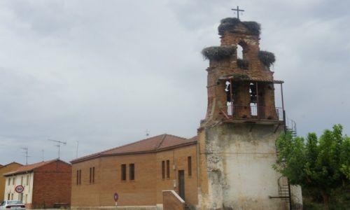 Zdjęcie HISZPANIA / Leon / San Miguel del Camino / Bocianie osiedle
