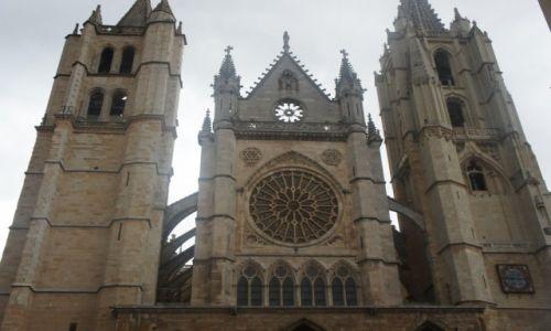 Zdjęcie HISZPANIA / Leon / Leon / Katedra w Leon 2