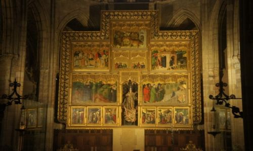 Zdjęcie HISZPANIA / Leon / Leon / Katedra w Leon, ołtarz