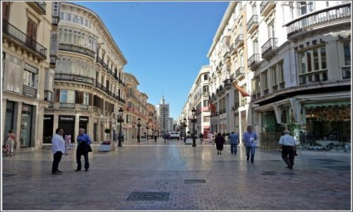 Zdjecie HISZPANIA / Andaluzja / Malaga / Ulica Marqués de Larios w Maladze