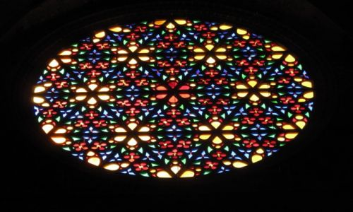 Zdjęcie HISZPANIA / Majorka / Palma de Mallorca / Rozeta w katedrze 2