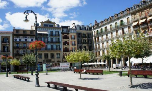 HISZPANIA / Navarra / Pampeluna / La Plaza del Castillo