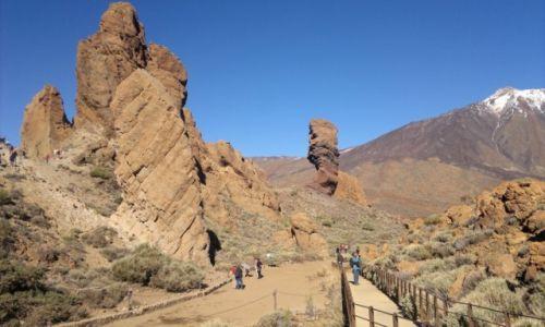 Zdjecie HISZPANIA / Teneryfa / Los Roques- pod Teide / skałki pod Teide
