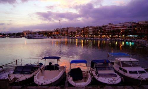 Zdjecie HISZPANIA / Majorka / Port de Alcudia / światła