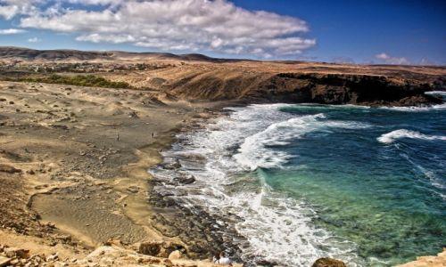 Zdjecie HISZPANIA / Wyspy Kanarysjkie. Fuerteventura. / La Pared / Wysypy Kanaryjskie. Fuerteventura. Klify La Pared.
