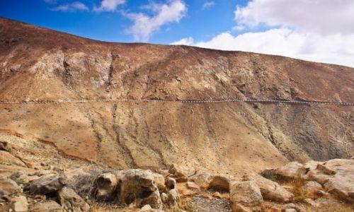 Zdjecie HISZPANIA / Fuerteventura / La Olica / Fuerteventura. Droga z La Oliva do La Pared