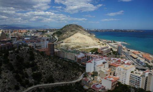 Zdjęcie HISZPANIA /  Costa Blanca  /  El Castillo de Santa Bárbara, Alicante / Panorama Alicante