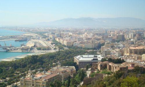 Zdjęcie HISZPANIA / Andaluzja / Malaga / Malaga z góry