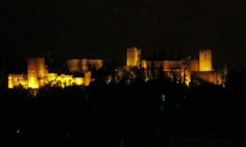 HISZPANIA / Andaluzja / Granada / Widok na Alhambre