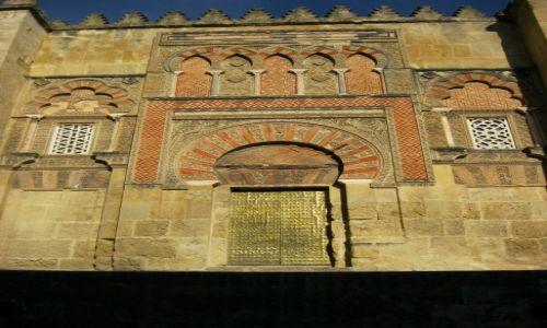 HISZPANIA / Andaluzja / Kordoba / Dzrwi meczetu