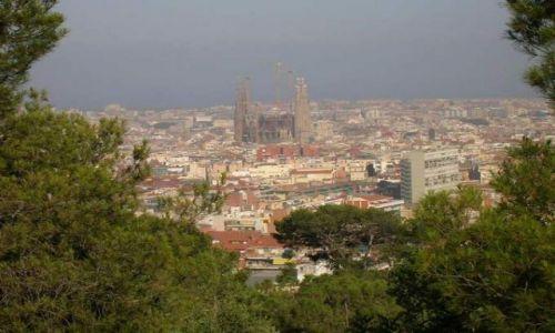 Zdjecie HISZPANIA / Katalonia / Barcelona / Sagrada Familia widok z Parku Guell