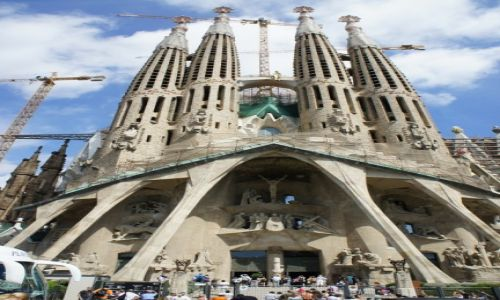 Zdjęcie HISZPANIA / Katalonia / Barcelona, Sagrada Familia / Dzieło pokoleń