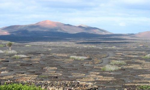 Zdjecie HISZPANIA / Lanzarote / Dolina La Geria / Przestrzeń na wulkanie