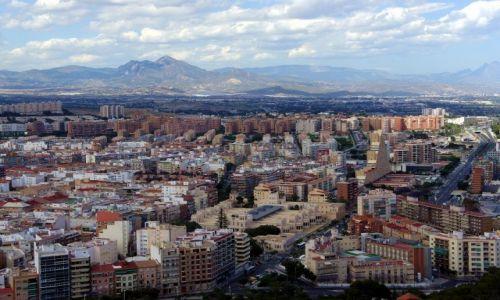 Zdjęcie HISZPANIA / Alicante / Zamek św. Barbary - Castillo de Santa Bárbara / Po horyzont