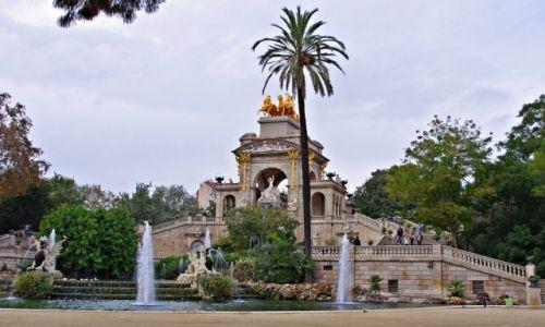 Zdjecie HISZPANIA / Katalonia / Barcelona, Parc de la Ciutadella / Cascada