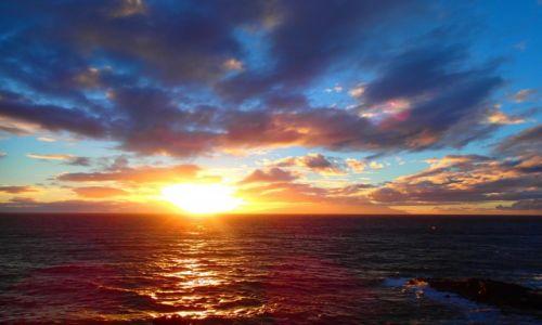 Zdjęcie HISZPANIA / wyspy Kanaryjskie / Teneryfa / słoneczko o zachodzie