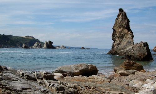 Zdjecie HISZPANIA / Asturia / Playa del Silencio / cisza