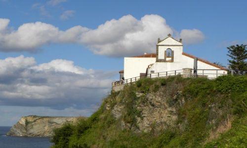 Zdjęcie HISZPANIA / Kantabria / Comillas / na klifie